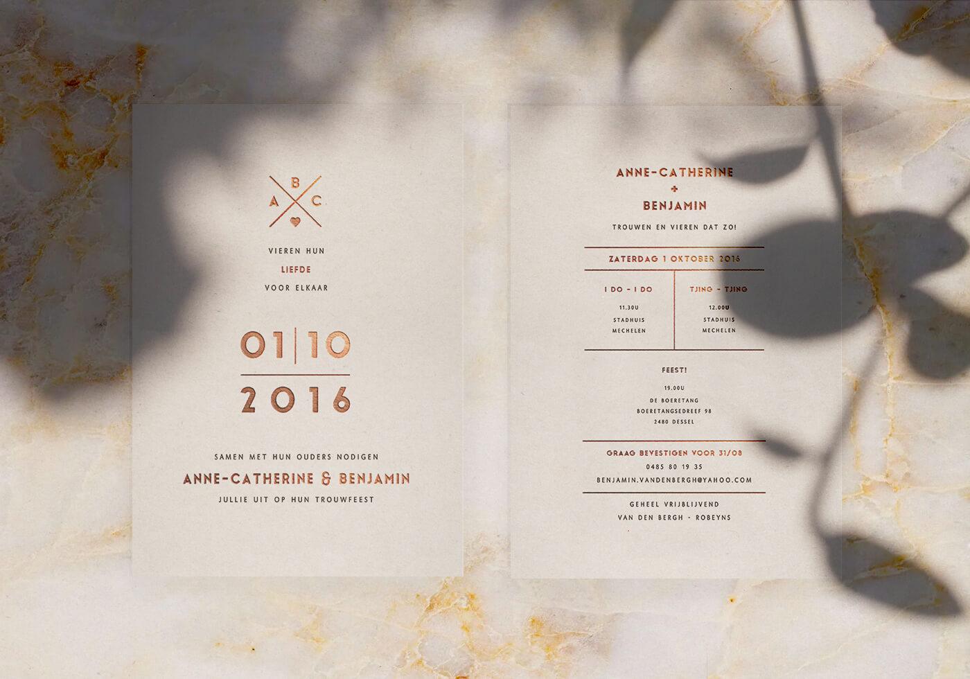 Anne-catherine x Benjamin invitation